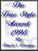 Stacie's Designs Award for True Style